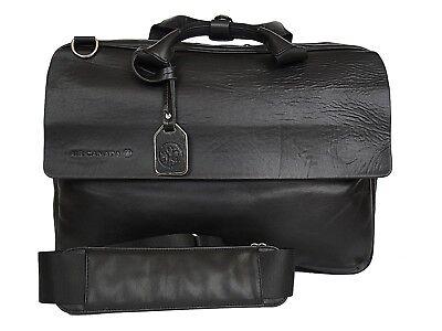 RUDSAK Laptop Briefcase Leather Black