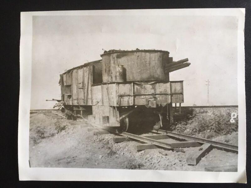 👍 ORIGINAL 1938 PHOTO CHINA CHINESE MILITARY ARMOURED TRAIN 国军装甲火车