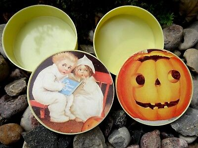 Two Witches Halloween (Two Vintage Inspired Halloween Containers by The Old Print Factory)