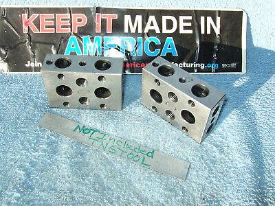 Moore 1-2-3 Blocks Used Vintage Toolmaker Machinist Grind Mill Inspect Clean 2a