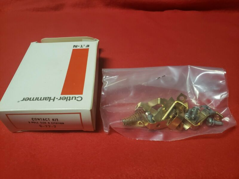 6-22-2 Cutler-Hammer Replacement Contact Kit, Size 0, 3 Pole