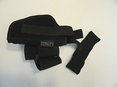 Uncle Mike's Black Sidekick Cordura Nylon Ankle Holster Size 1 (1 Cordura Ankle Holster)