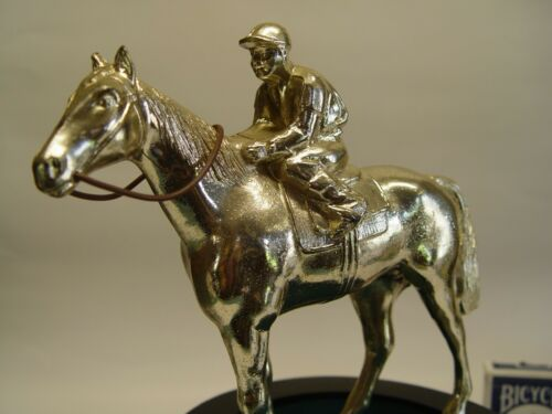 Collectible 1986 Kentucky Derby horse and jockey trophy