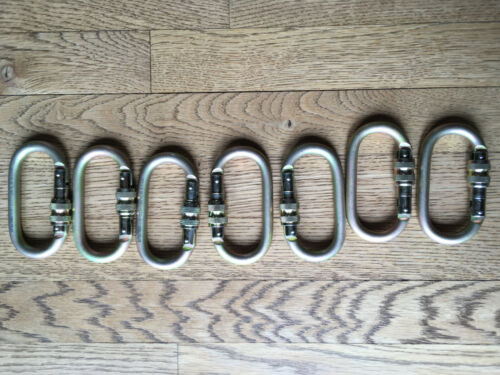 Lot of 7 Fusion Oval Shaped Screw Locking Carabiner 27 kN NEW