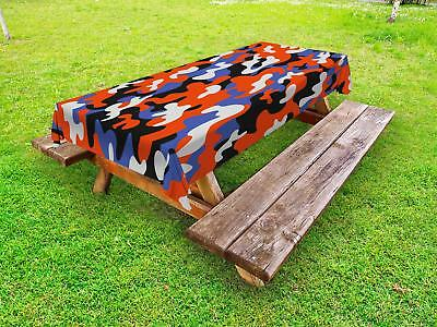 Camouflage Outdoor Picnic Tablecloth Ambesonne in 3 Sizes Washable Waterproof
