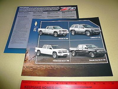 2007 ? Chevrolet Z71 Trailblazer Silverado Colorado Sales Flyer Specifications