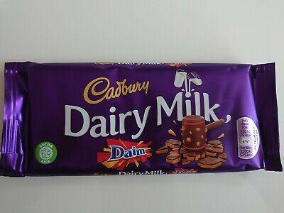 Cadbury Dairy Milk Daim Chocolate Bar 120g UK FAST DISPATCH