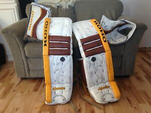 Koho goalie goal pads gloves set