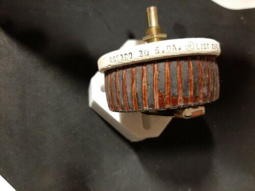 Ohmite RGS3R0 Rheostat 75 watt 3 Ohms Model G