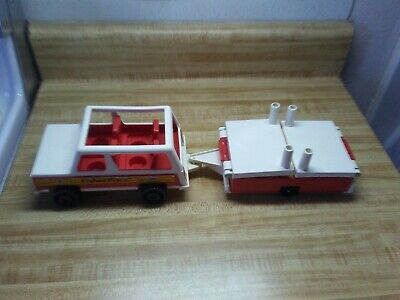 vintage Fisher Price 992 Jeep and camper