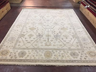 "On Sale Great Deal Hand Knotted Oushak Rug  Carpet Geometric 8x10,8'2""x10'"