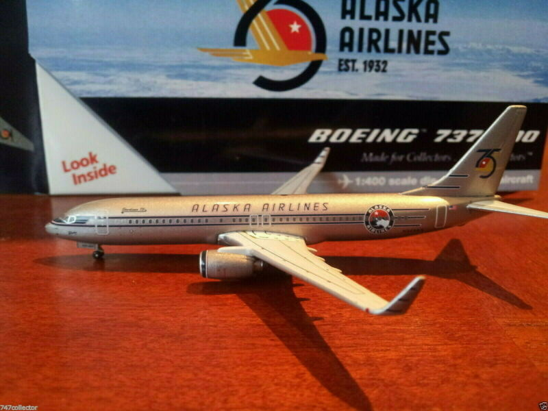 Gemini Jets Alaska Airlines B 737-890WL 1:400 GJASA783  75th Anniversary N569AS