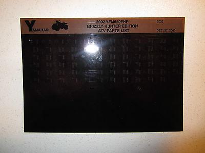 (2002 Yamaha ATV YFM660FHP Grizzly Hunter Edition Microfiche Parts Catalog )