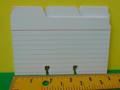 24 Brand New 13 Cut Ruled Tab Index Card Dividers For Rolodex 3 X 5 Card File