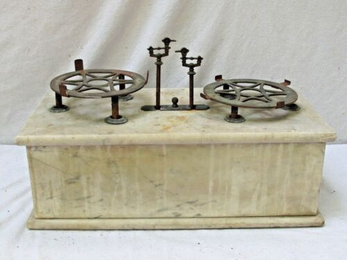 Antique White Marble Apothecary Scale