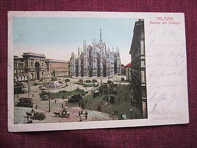 AK MILANO MAILAND PIAZZA DEL DUOMO 1905 NACH KLETTENDORF 2168