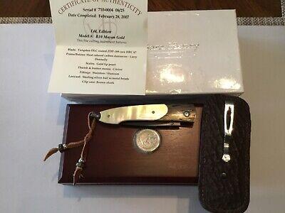 Custom William Henry Knives B10 Mayan Gold Ltd. Edition Flipper Folder Knife