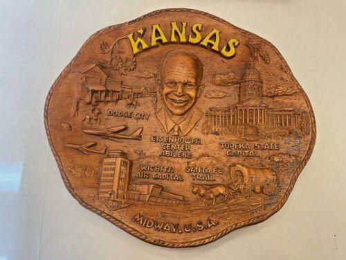 Vintage KANSAS STATE Tray Lugenes Branson Missouri Souvenir Dish PLATE
