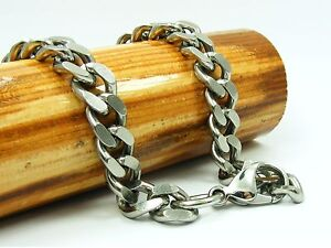 Custom-Made-MEN-Heavy-Solid-STAINLES-STEEL-9X12mm-Curb-CHAIN-NECKLACE-THICK
