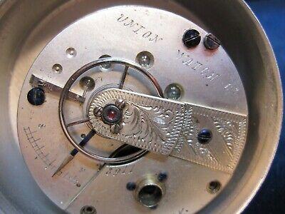 118s Union Watch Co NY key wind pocket watch movement