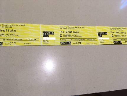 Gruffalo - 3 tickets (Excellent seats) for 28 Jan show at 11 AM