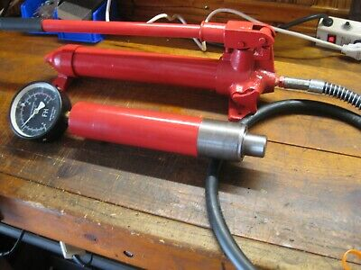 12000 Psi Hydraulic Hand Pump With 18 Ton Ram Gage