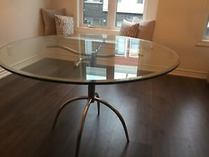 Glass table 42""