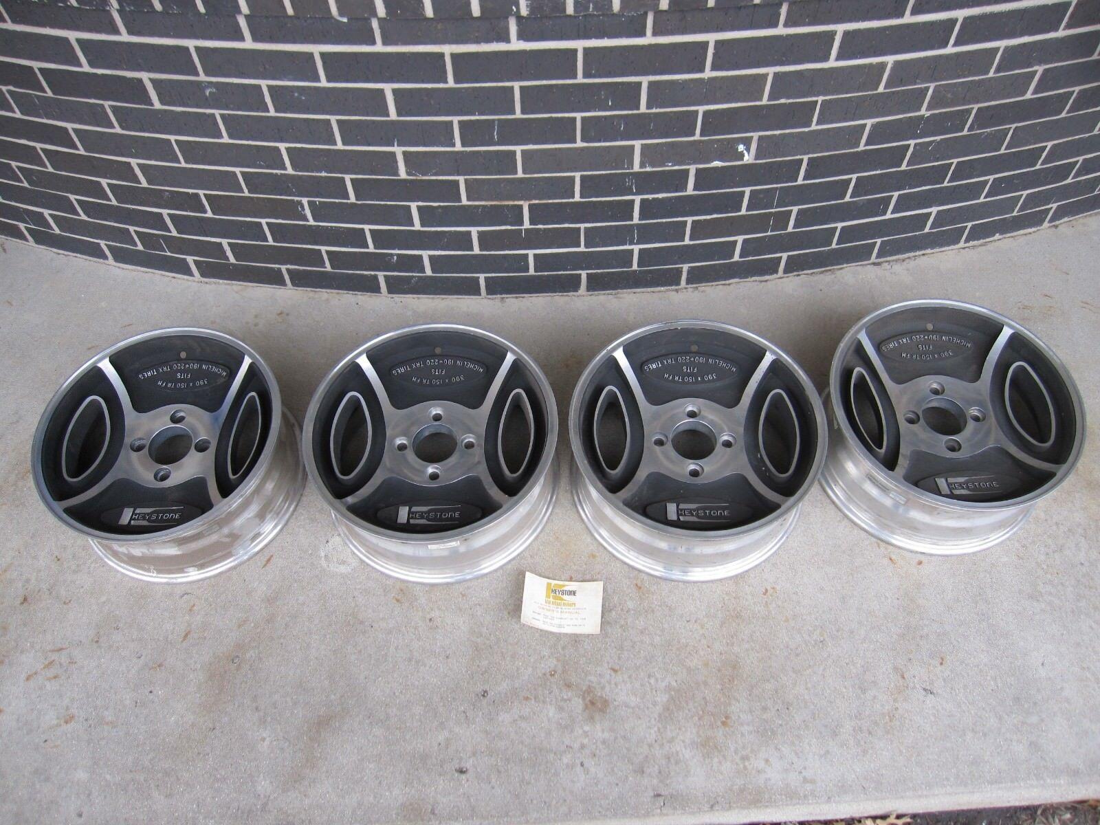 Photo Keystone Wheels Vintage Ford Rims Mustang Pinto Capri Granada 390 TRX Wheels NOS