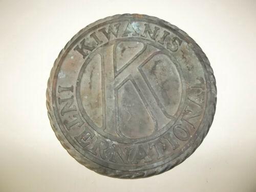 Vintage Kiwanis International Brass Plaque Sign