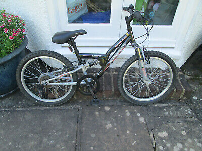 """Boys Bike 20"""" Wheels Collect Purley no chain, snapped 7+ Age dual suspension"""