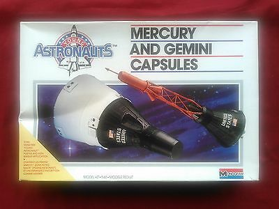 "MONOGRAM #5909 MERCURY & GEMINI CAPSULES ""YOUNG ASTRONAUTS"" - SEALED INSIDE"