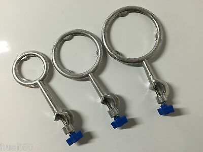 Lab Aluminum  Ring Stand Flask Support Ring Swivel Clamp A Set Of 3 Pieces