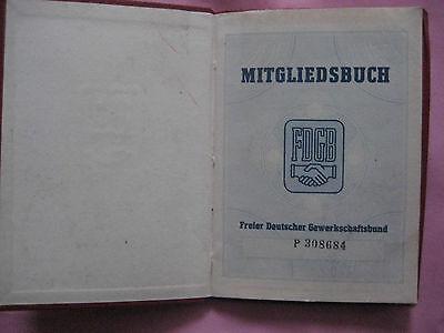 Mitgliedsbuch-Freier deutscher Gewerkschaftsbund aus dem Jahr 1955 / mit Marken.