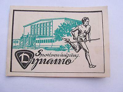 altes Briefmarken Heft Spendenmarken Sportvereinigung Dynamo von 1961