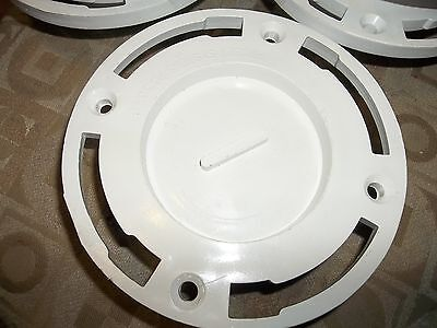 Lot Of 5 New Proset Systems 3 Flush Fit Flange Pvc White Plumbing Parts