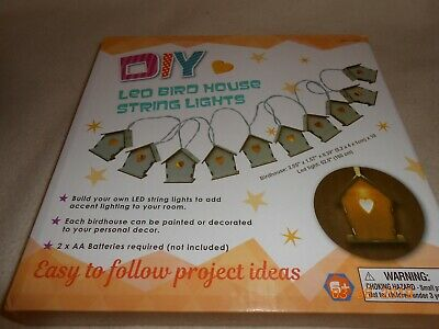 New Box DIY Led Bird House String Lights 10 count So Cute 4 child's Room Crafts](Cute String Lights)