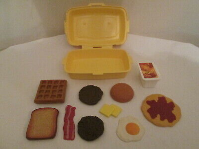 Fisher Price McDonald's Fun With Food Breakfast Hot Cake Playset & Extra Food