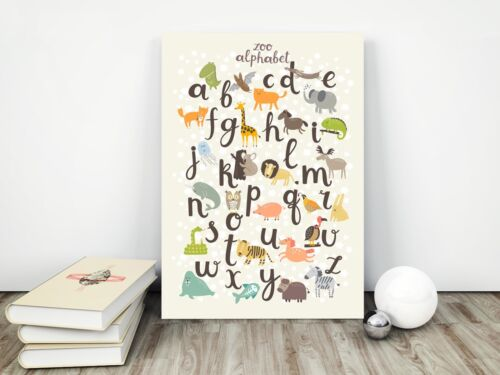 Alphabet Animals Nursery Print / Picture, For Boys / Girls Bedroom, Playroom
