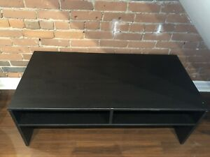 Black coffee table/ media bench