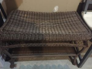 Brown wicker table! $10