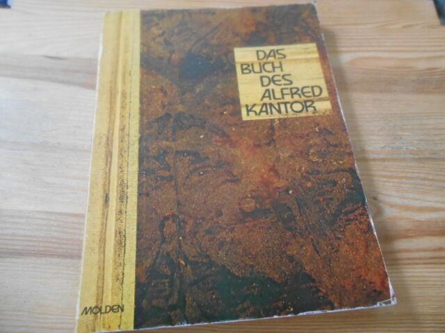 Sach Friedrich Heer - Das Buch des Alfred Kantor (138 pg) 1.Auflg MOLDEN