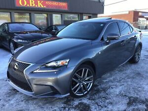 2014 Lexus IS 250 F SPORT 3-NAVIGATION-TOIT-AWD-