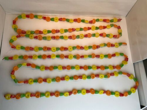 "Vintage Christmas Blow Mold Plastic Garland Gumdrops Lifesaver 216"""