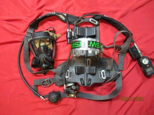 MSA 4500psi SCBA FIREHAWK HUDS PASS ALARM MASK DIGITAL CONSOLE FIREFIGHTER FIRE