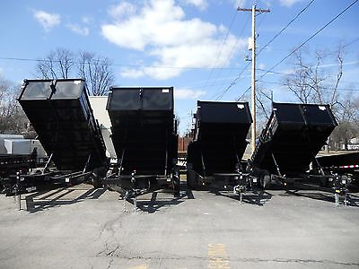 Brand New 2019 83 X 12 Dump Trailer 12000 G.v.w. Loaded Ramps D-rings Ect.