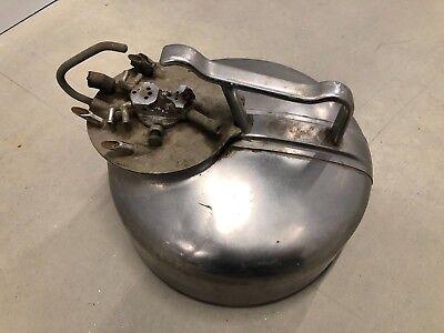 Vintage Dairy Milker Stainless Steel Milk Bucket With Teat Cups