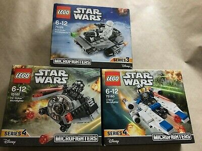 LEGO STAR WARS DISNEY 3 SETS MICROFIGHTERS SERIES 3,4 BOXED 75126 75160 75161