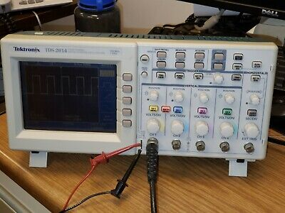 Tektronix Tds2014 Digital Storage Oscilloscope 4 Channel 100 Mhz 1gss