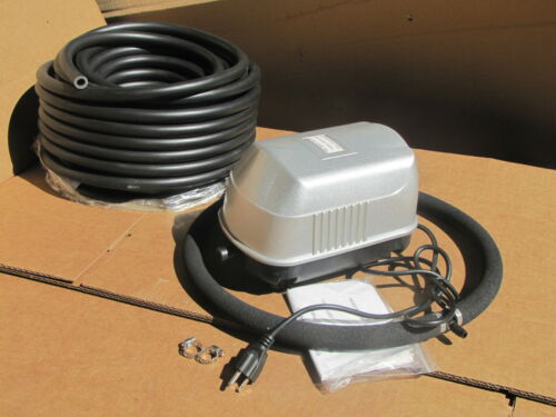 Medium Pond air diffusion AERATION / AERATOR SYSTEM 50ft Standard Hose,Diffuser!