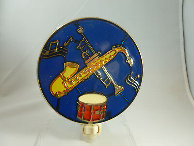 "STAINED GLASS STYLE ""MUSICAL INSTRUMENTS""  NIGHT LIGHT"